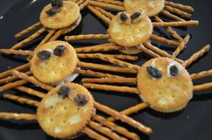Ritz Cracker Spiders
